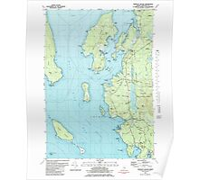 Maine USGS Historical Map Bartlett Island 104897 1981 24000 Poster