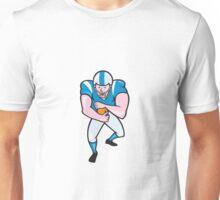 American Football Running Back Fending Cartoon Unisex T-Shirt