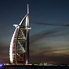 Burj al Arab at night by Gideon van Zyl