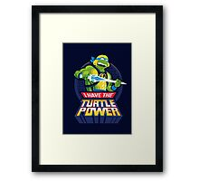 TURTLE POWER Framed Print
