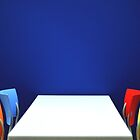 Table,Chairs, Wall by Billlee