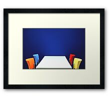 Table,Chairs, Wall Framed Print
