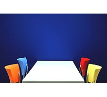 Table,Chairs, Wall Photographic Print