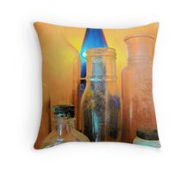 Pickles,Whiskey and Wine Throw Pillow