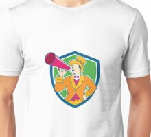 Circus Ringmaster Bullhorn Crest Cartoon Unisex T-Shirt