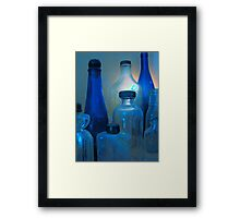 Pickles, Whiskey and Wine In Blue Framed Print