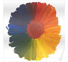Colour Wheel Flower Poster