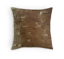 sunrise on woody snowscape Throw Pillow