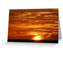 Clouds of Gold Greeting Card