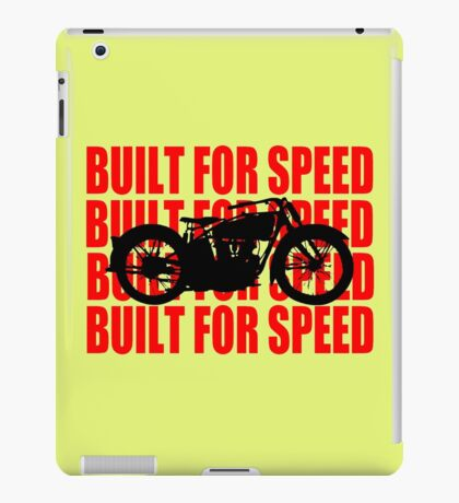 BUILT FOR SPEED-1930 RED iPad Case/Skin