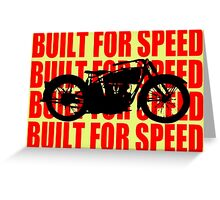 BUILT FOR SPEED-1930 RED Greeting Card
