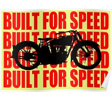 BUILT FOR SPEED-1930 RED Poster