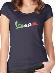 VESPA ITALIAN FLAG Women's Fitted Scoop T-Shirt