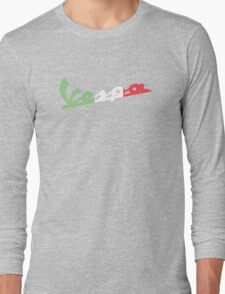VESPA ITALIAN FLAG Long Sleeve T-Shirt