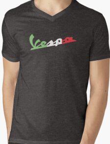 VESPA ITALIAN FLAG Mens V-Neck T-Shirt