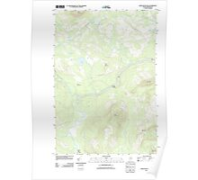 Maine USGS Historical Map Basin Mountain 20110909 TM Poster