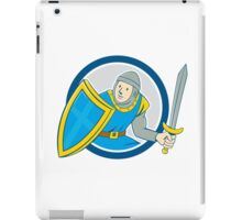 Medieval Knight Shield Sword Circle Cartoon iPad Case/Skin