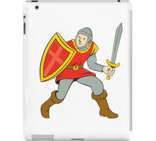 Medieval Knight Shield Sword Standing Cartoon iPad Case/Skin