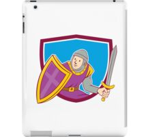 Medieval Knight Shield Sword Cartoon iPad Case/Skin