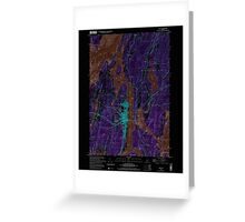 Maine USGS Historical Map Bath 104901 2000 24000 Inversion Greeting Card