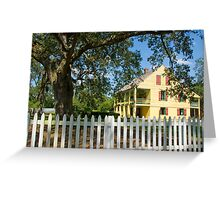 House with a white picket fence . . . Greeting Card