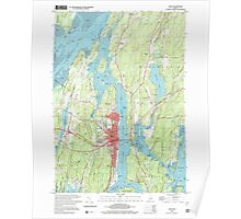 Maine USGS Historical Map Bath 104901 2000 24000 Poster