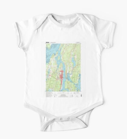 Maine USGS Historical Map Bath 104901 2000 24000 One Piece - Short Sleeve