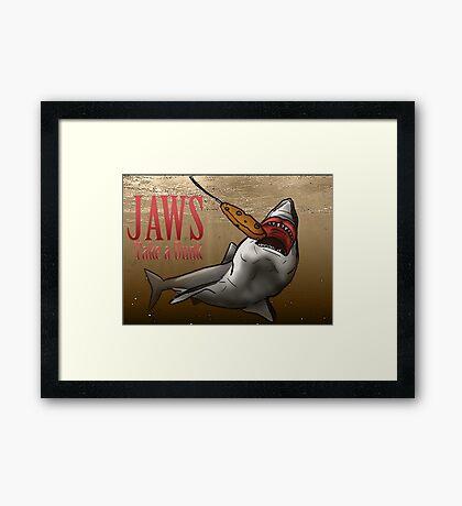 JAWS Take A Dunk  Framed Print