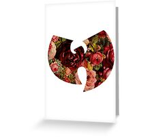 FLOWER W Greeting Card