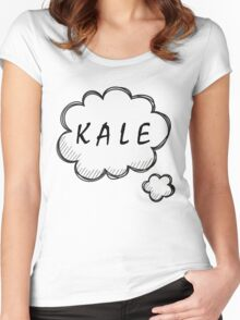 Thinking about Kale Women's Fitted Scoop T-Shirt