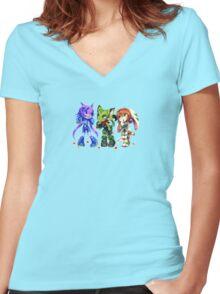 Freedom Planet - Kiwiggle Design Women's Fitted V-Neck T-Shirt