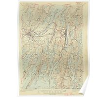 Maine USGS Historical Map Bath 306459 1945 62500 Poster