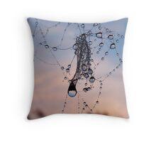 Sunset Droplets Throw Pillow