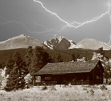 Mountain Lightning Landscape by Bo Insogna