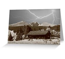 Mountain Lightning Landscape Greeting Card