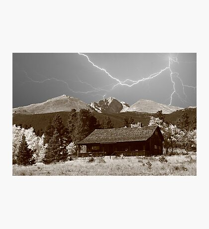 Mountain Lightning Landscape Photographic Print