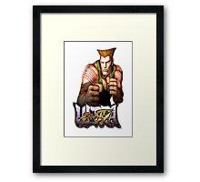 ultra street fighter guile Framed Print