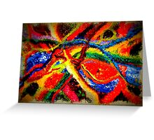 Colorful Abstract Painting on Canvas Titled: Colored River Greeting Card