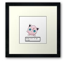 Pokemon Jigglypuff Cute Framed Print
