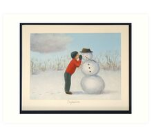 Confession to the snowman Art Print