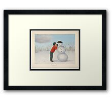 Confession to the snowman Framed Print