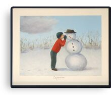 Confession to the snowman Canvas Print
