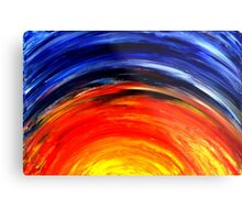 Colorful Abstract Painting Original Art Titled: Meteor Shower Metal Print