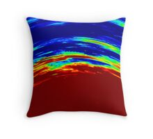 Colorful Abstract Painting Original Art Titled: Ruby Red Throw Pillow