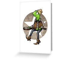 nothing haults this frog Greeting Card