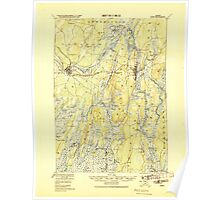 Maine USGS Historical Map Bath 460157 1920 62500 Poster