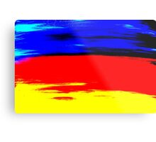 Bright Colorful Abstract Art Titled: More Color Metal Print
