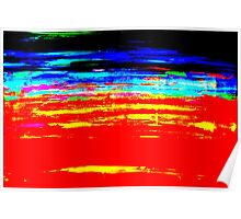 Colorful Abstract Painting Original Art Titled: Stray Color Poster