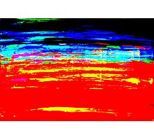 Colorful Abstract Painting Original Art Titled: Stray Color Photographic Print