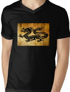 Vintage Dragon Mens V-Neck T-Shirt
